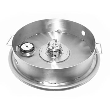 IBC Stainless Steel Cover and FuzVent