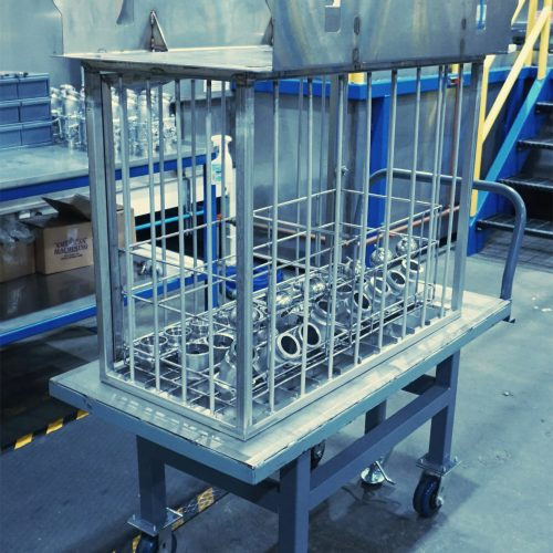 Cygnet Tote Washing Mixer Component Cleaning Rack